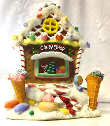 Vintage Christmas Decor Gingerbread Cookie Candy Lighted House Village Valley