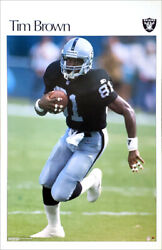Tim Brown Oakland Raiders 2002 Vintage Retro-si-style 22x34 Nfl Action Poster
