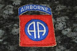 Wwii Original 82nd Airborne Patch Must See