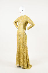 Zuhair Murad Haute Couture Lace High Neck Gown