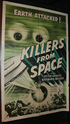Killers From Space Movie Poster - Rare Sci-fi Horror C-5 1953