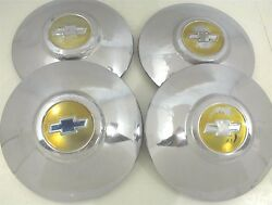 Vintage 1949 1950 Chevrolet Hubcaps Dog Dish Gm Usa Set Of 4 Four 49 50 Chevy
