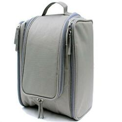 Travel Toiletry Bag X Large Capacity Deluxe Hanging Cosmetic Organizer Kit (Gray