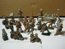 Vintage Military Lead Soldiers Toy Figures Lot Of 18 T