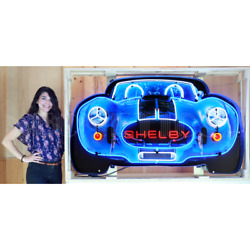 Wholesale Lot Of 2 Huge Neon Signs Ford Mustang And Carroll Shelby Cobra 427 Ac