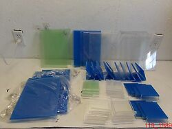 Lot Of 38 Window Table Tent Flyer Display 8x11 4x4 Suction Grip Slanted Straight