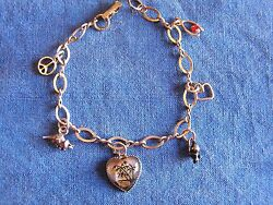 Beau Sterling Charm Bracelet Child's 6 Charms 7 Inch Cute Charms Vintage 1950's