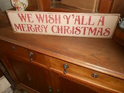 We Wish Yand039all A Merry Christmas Christmas Wood Sign Primitive