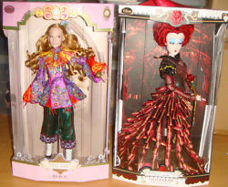 Disney Limited Edition - Through The Looking Glass Alice Red Queen 2 Doll Set