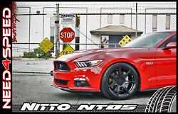 19 Project 6gr Black Wheels And Tires Nitto Invo Nt05 For Mustang S550 S197 Gt
