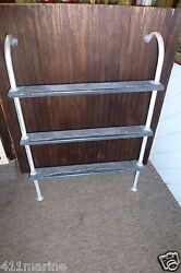 45 X 32 Boat Marine 3 Step Ladder With Gunwale Hook On Fast Shipping
