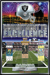 Oakland Raiders 3-time Super Bowl Champions Official Nfl History 24x36 Poster