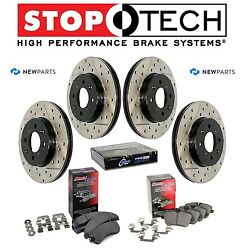 Front & Rear StopTech Drilled & Slotted Brake Rotors Ceramic Pads KIT For Maxima