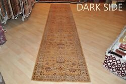 13 Ft. long Handmade hall runner Very muted MUTED beige mustered color  2'8