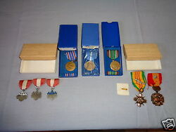 8 Campaign Service Good Conduct And Order Of The Rising Sun Ribbons Ww2 Medal Lot