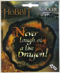 The Hobbit Desolation of Smaug Never Laugh at Live Dragon Peel Off Sticker Decal