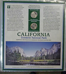 2010 California From Atb State Quarter Collection P And D W/stamps