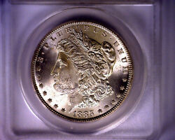 1885 Anacs Hit List 40 Blast White Ms62 Vam 22 Morgan Silver Dollar Coin 1885
