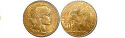 5 Gold French 20 Franc Rooster Agw .1867 Oz. Gold Coin Random Year And Condition