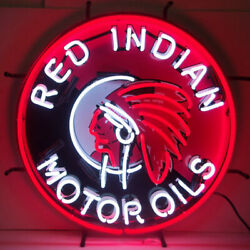 5 Neon Signs Gasoline American Indian Head Gas And Oil Wholesale Lot Wall Lamp