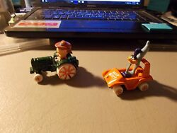 Ertl Looney Tunes Diecast Lot Of Porky Pig On Tractor And Road Runner In Car 3