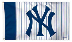 New York Yankees Pinstripes-ny Official Mlb Baseball 3'x5' Wincraft Deluxe Flag