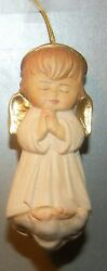 New White Angel On The Cloud, 10206-wi, Wood Figurine From Lepi, Italy