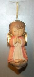 New Red Angel On The Cloud, 10206-rt, Wood Figurine From Lepi, Italy