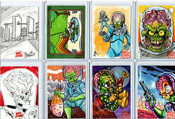 Mars Attacks Occupation Invasion - Sketch Autograph Plate Metal Card Selection