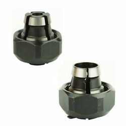2 Piece Router Collet Kit 1/4 And 1/2 Replaces Porter Cable 42999, 42950