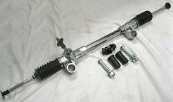 Chrome 74-78 Ford Mustang Ii Manual Rack And Pinion + Bushings And Bolts And U-joint