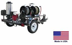 PRESSURE WASHER Hot Water - Trailer Mount 200 Gal - 4 GPM - 3200 PSI - Diesel c