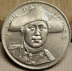 Rare 1968 John Paul Jones Us Navy Shell's Famous Facts And Faces Medal Token Coin