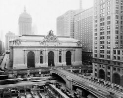 Grand Central Station New York City 1940s 16x20 Silver Halide Photo Print