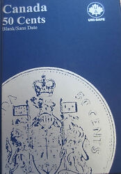 Complete Set Of Canada Half Dollars Coins 1968-2015 In Uni-safe Blue Book