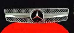 Mercedes R129 SL320 SL500 Grille Grille 90~02 1 Fin SILVER BENZ AMG STYLE