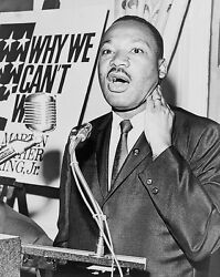 Martin Luther King Jr. At Press Conference 1964 11x14 Silver Halide Photo Print