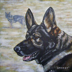 CUSTOM DOG PORTRAIT PAINTING by artist BETS 30