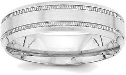 14k White Gold Standard Comfort Fit Fancy Band Ring Wb101s