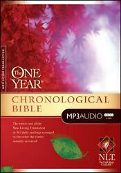 One Year Chronological Bible-nlt By Tyndale English Mp3 Cd Book Free Shipping