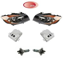 For BMW E90 E91 Pair Set of 2 Headlight Assemblies w Control Units