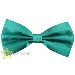 GREEN SATIN BOW TIE ST PATRICK'S FANCY DRESS ACCESSORY EMERALD DICKIE BOW LOT