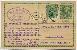 Austria Empire, Postal Card 5 Heller From Trieste 1913 + Punched Stamp 5h  M