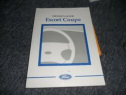 1998 FORD ESCORT COUPE FACTORY ORIGINAL OWNERS MANUAL