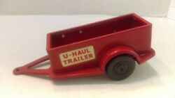Vintage 60's Japan Tin 7 U-haul Trailer Very Nice Clean For Toy Cars