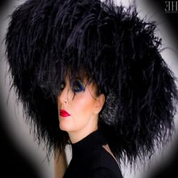 Black Extra Large Feature Hat Ostrich Feather Boa Ascot-made To Order 21 Days