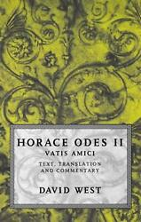 Horace Odes Ii Vatis Amici By Horace English Hardcover Book Free Shipping