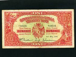 Tongap-11a1 Pound 1940 Goverment Issue First Date Of Issue