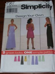 Simplicity 7967 - Ladies Design Your Own Evening - Prom Dress Pattern 10-14 Ff