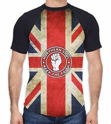 Northern Soul Keep The Faith Union Jack Menand039s All Over Baseball T Shirt - Mods